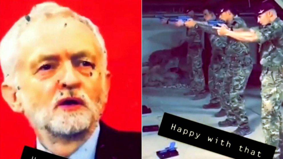 Soldados británicos realizan pruebas de tiro en Afganistán 'disparando' a Corbyn