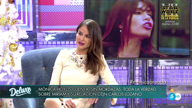 Mónica Hoyos', en 'Sábado Deluxe'. (Telecinco).