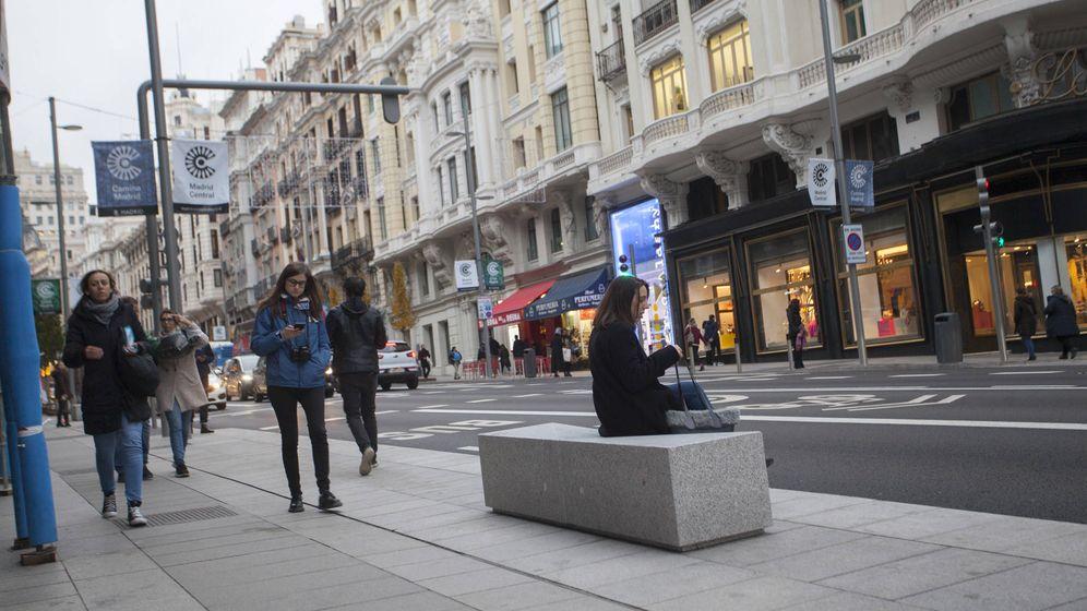 Foto: La nueva Gran Vía, uno de los ejes de Madrid Central. (Foto: Enrique Villarino)
