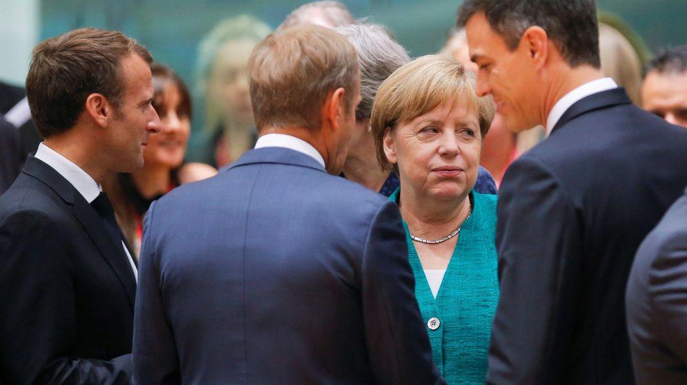 Foto: Líderes charlan durante un Consejo Europeo. (EFE)