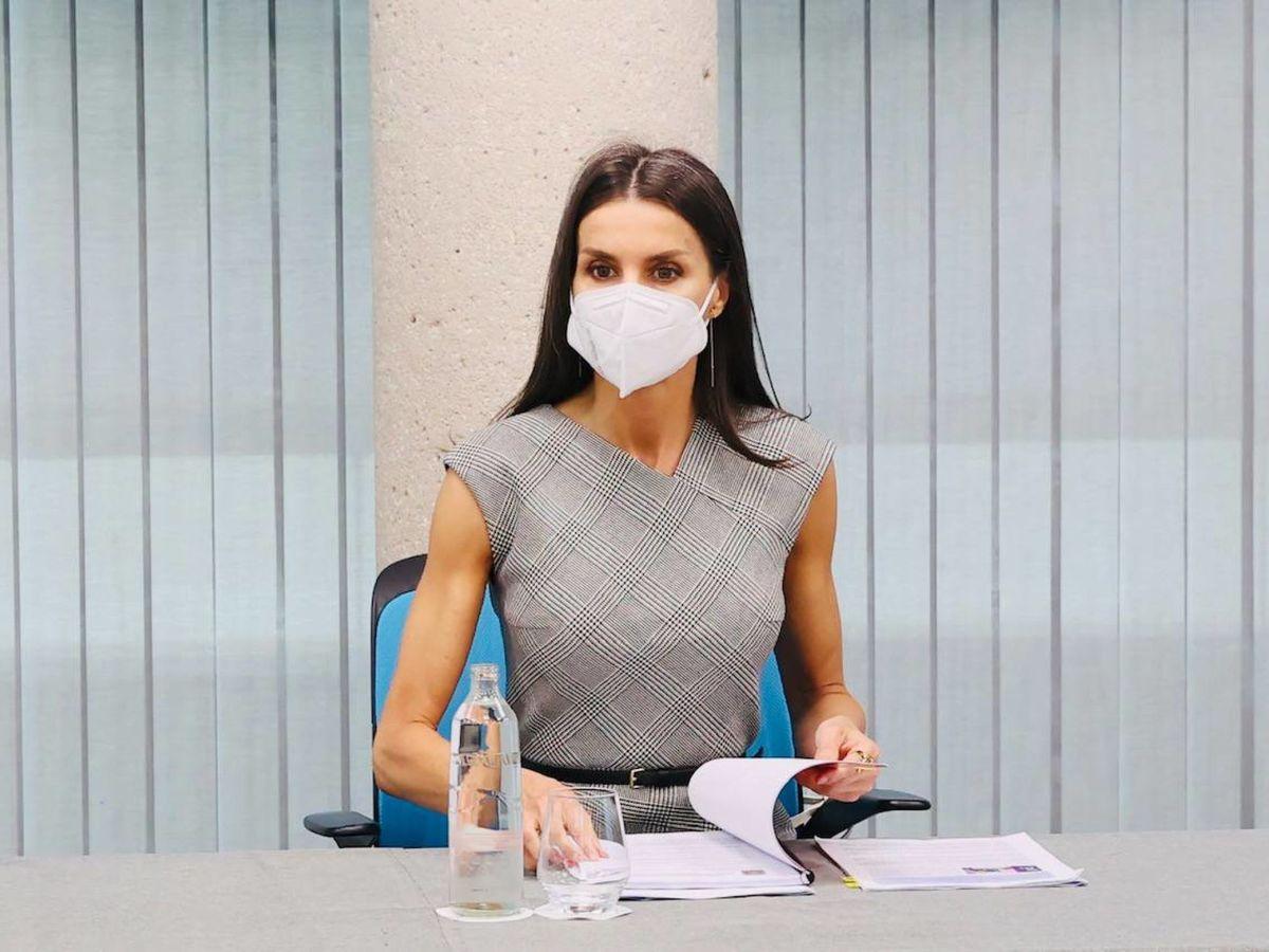 Foto: Letizia, en su reunión con FEDEPE. (LP)
