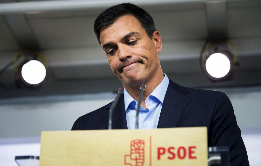 Foto: Pedro Sánchez, el pasado 26 de septiembre tras la reunión de la ejecutiva permanente del PSOE. (EFE)