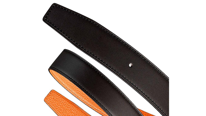 Foto: Cinturón de piel sin hebilla de Hermès.