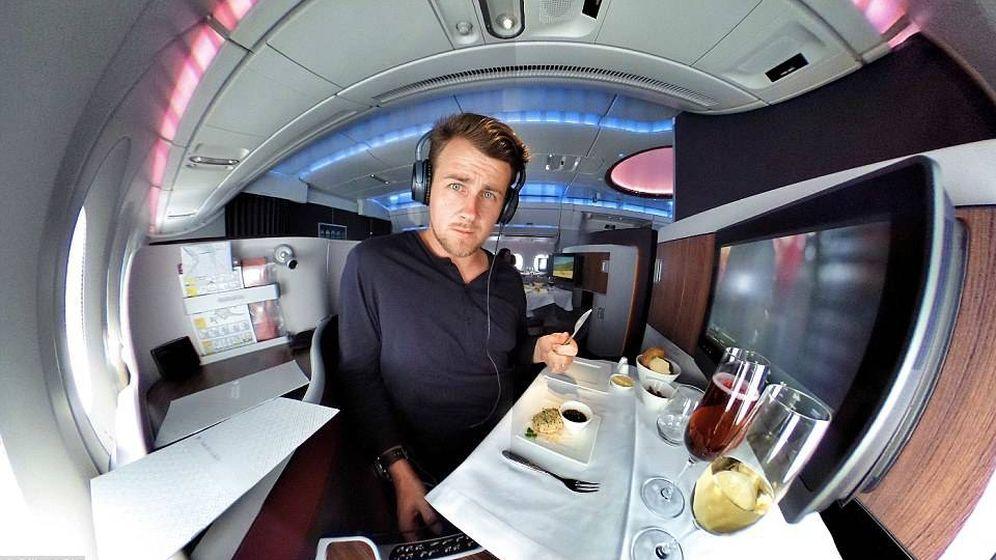 Foto: Gilbert Ott es un habitual de la clase 'business' de los aviones. (Instagram)