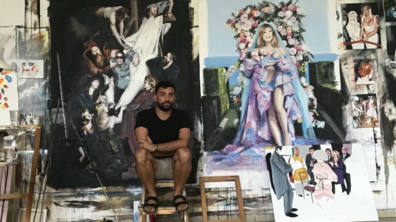 El pintor Cristóbal Tabares, artífice de la exposición.