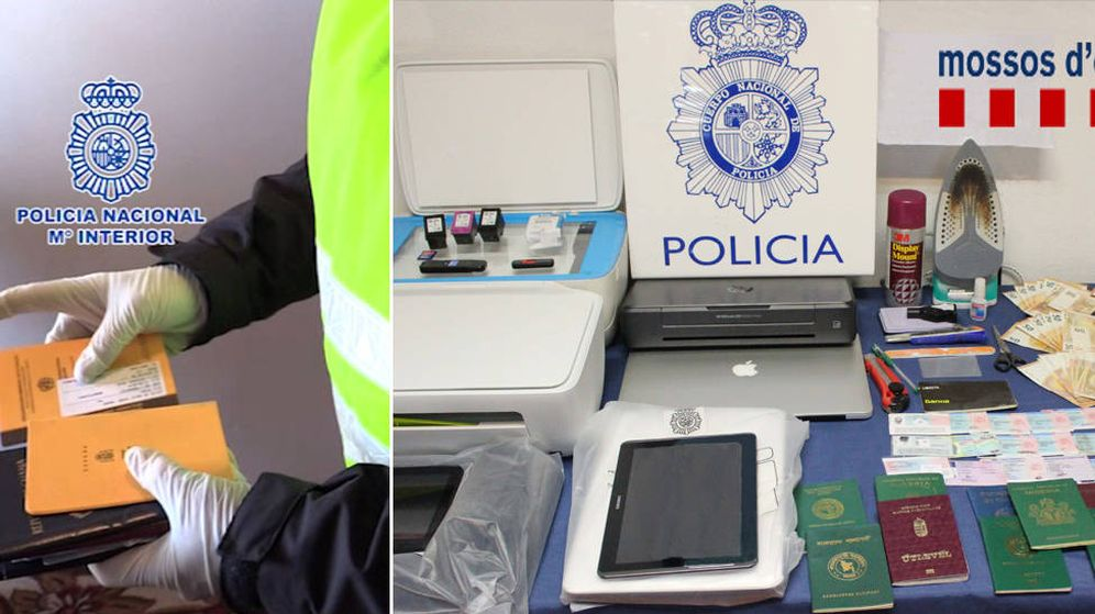 Foto: El material incautado por los agentes a la red de falsificadores. (Foto: Policía Nacional)