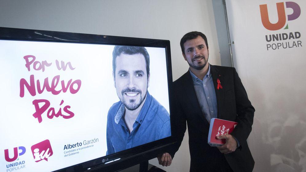 Foto: Garzón presenta el lema y la imagen de su campaña electoral. (EFE)