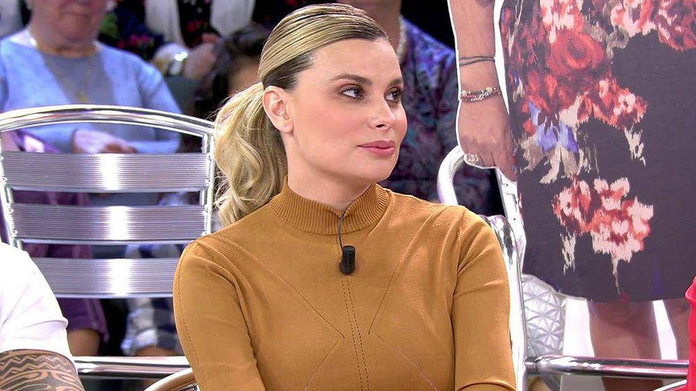 Foto: María Lapiedra en 'Sálvame'. (Mediaset España)