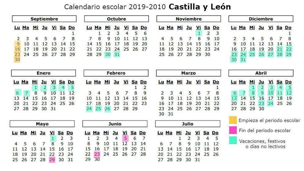 Calendario Escolar Cantabria 2020.Calendario Escolar 2019 2020 En Asturias Dias Festivos Y