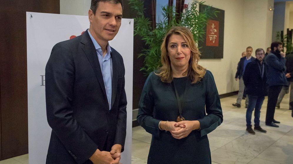 Foto: La presidenta andaluza, Susana Díaz, y el secretario general del PSOE, Pedro Sánchez, este 23 de enero en Sevilla. (EFE)