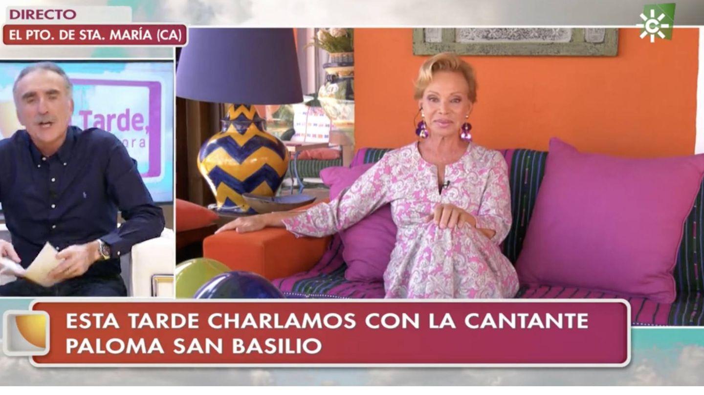 En su casa de El Puerto de Santa María, en el programa de Juan y Medio. (Captura Canal Sur)