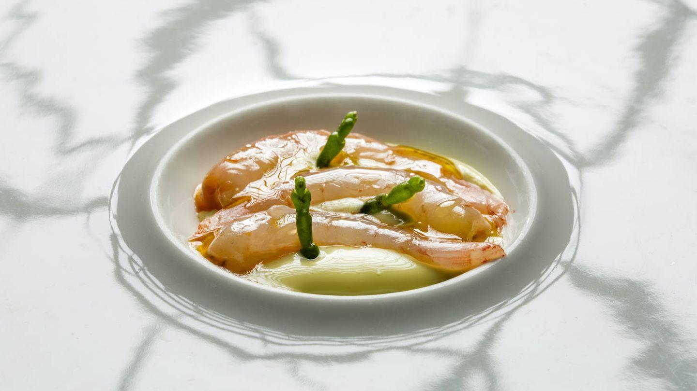 Gamba blanca del restaurante Acánthum.