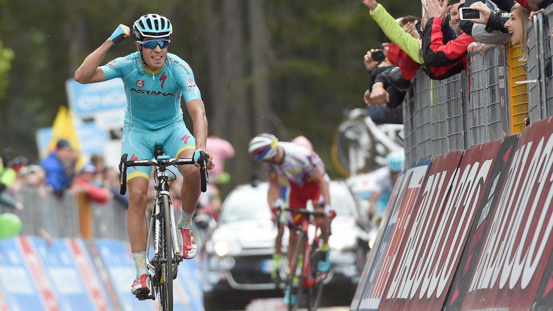 Foto: Mikel Landa logró su primera victoria en una Gran Vuelta (EFE).