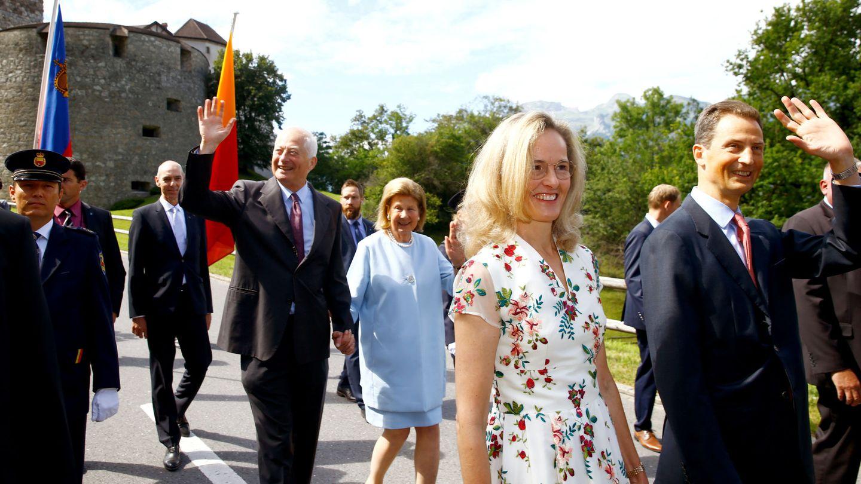 Sophie y Alois de Liechtenstein, junto al soberano, Hans Adam, y su esposa, en una imagen de archivo. (Reuters)