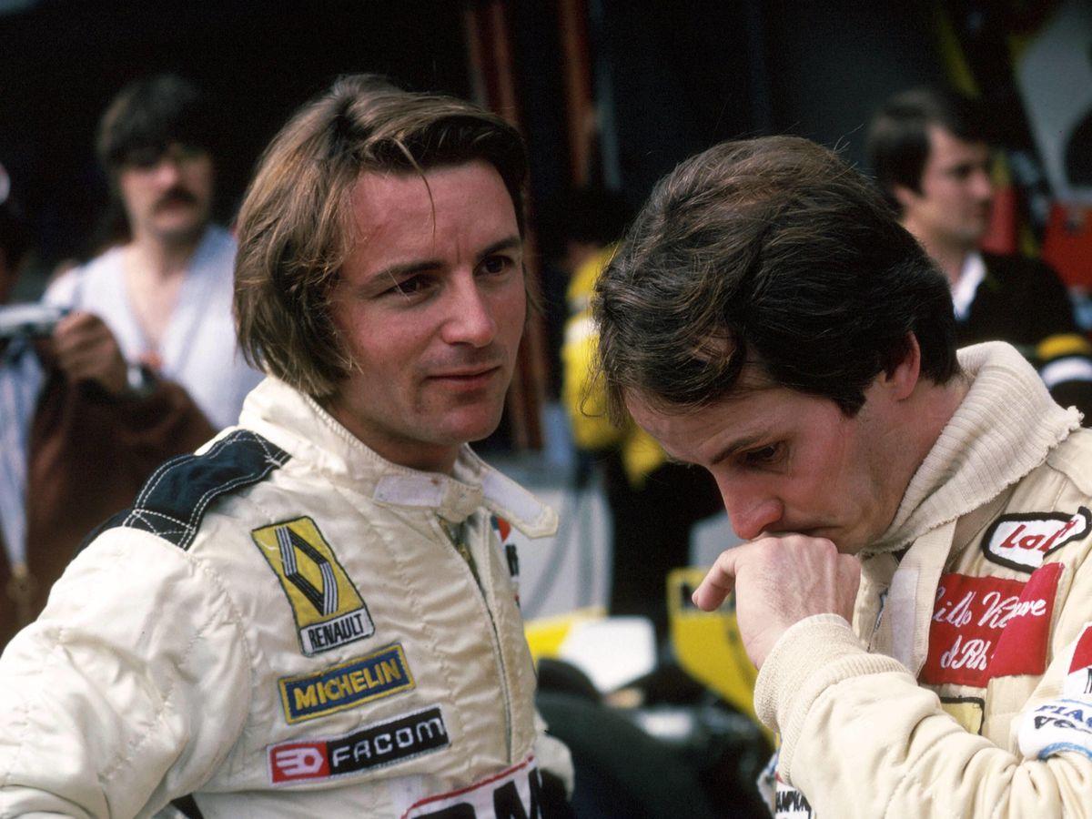 Foto: René Arnoux, junto a Gilles Villeneuve. (Imago)