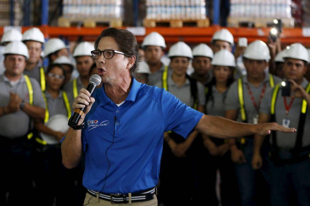 Foto: Lorenzo Mendoza, presidente de Polar, durante una conferencia en un centro de distribución en Maracay, Venezuela. (Reuters)