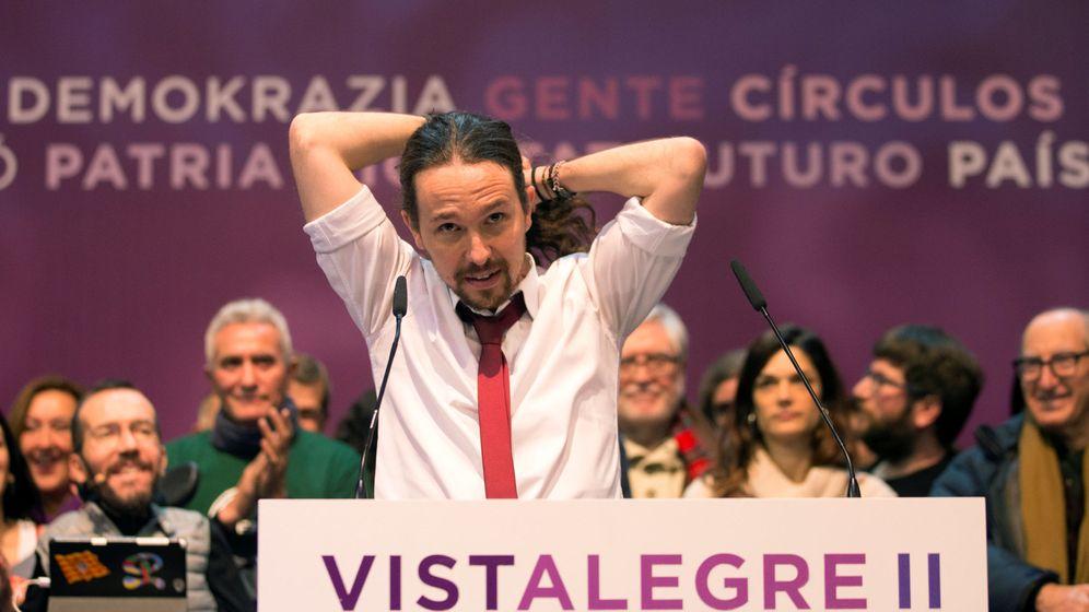 Foto: El secretario general de Podemos, Pablo Iglesias, tras conocer los resultados de la votación en Vistalegre II. (Reuters)