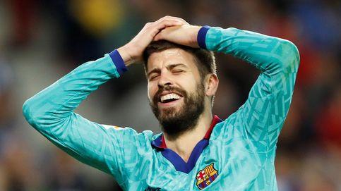 El penalti por agarrón en el descuento que pidieron Piqué y el Barcelona
