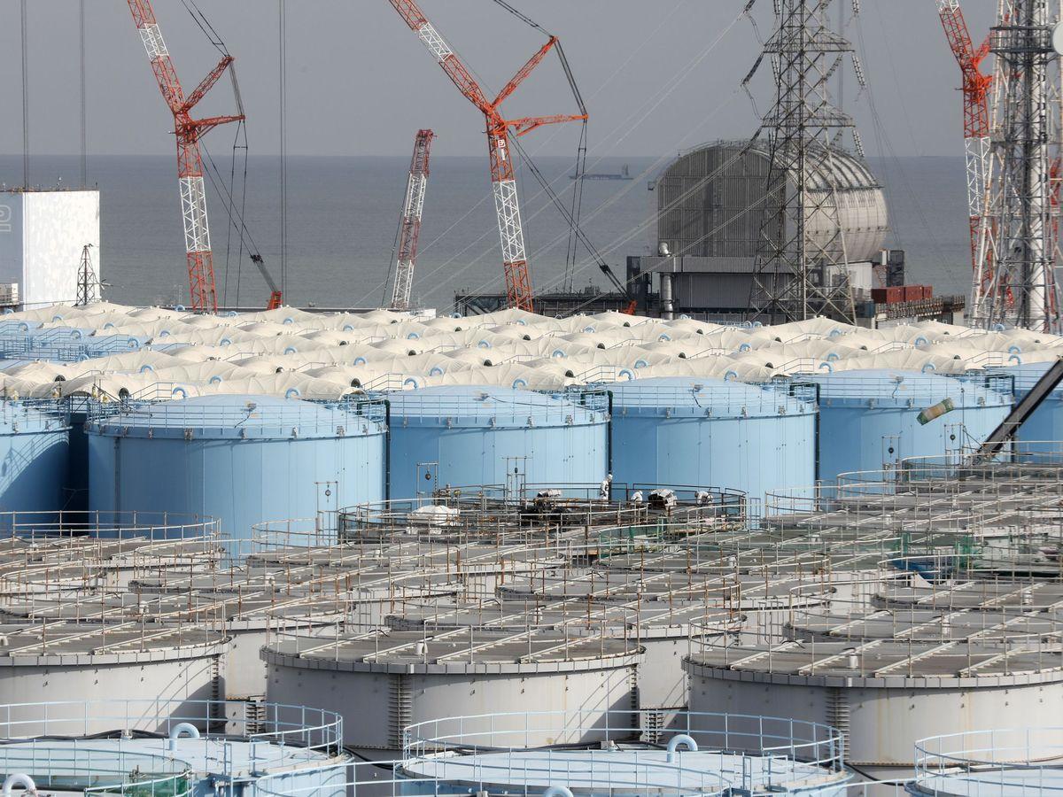 Foto: Tanques con agua de Fukushima. (EFE)