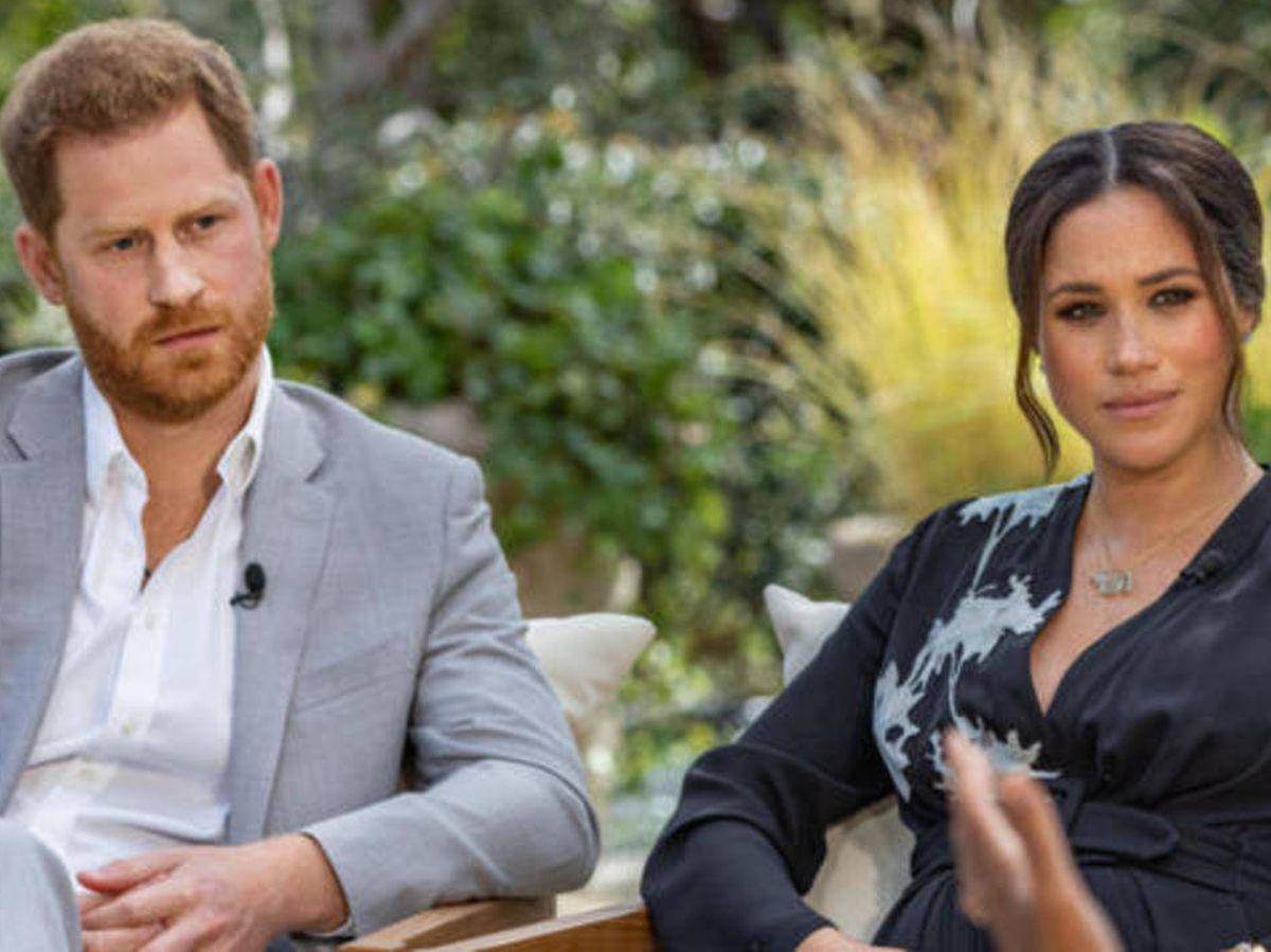 Foto: Harry y Meghan Markle, en su polémica entrevista. (CBS)