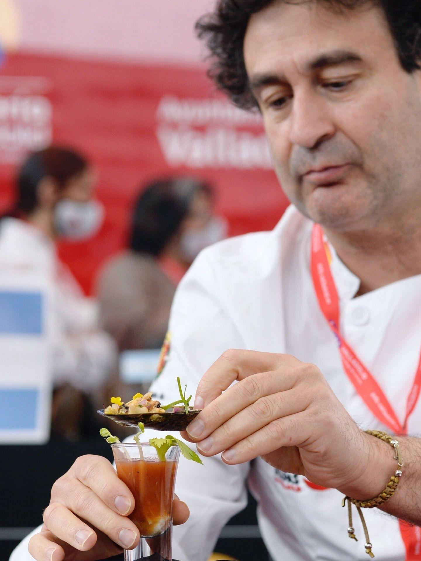 Pepe Rodríguez, en un campeonato de tapas. (EFE)