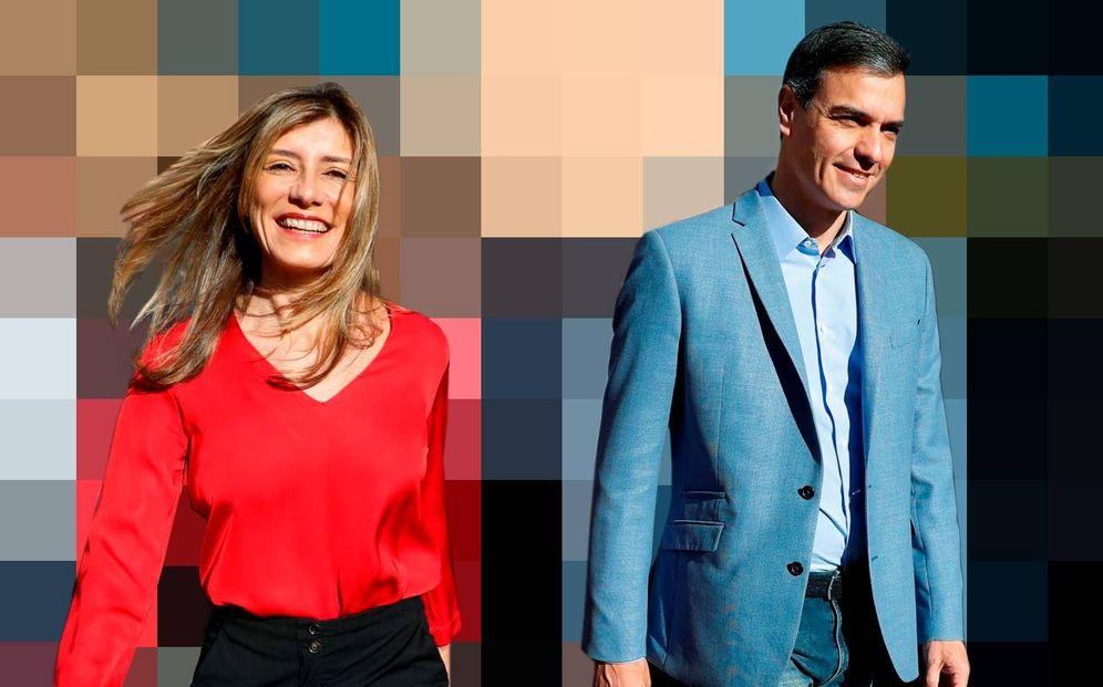 Foto: Pedro Sánchez y su esposa Begoña Gómez. (Montaje: Enrique Villarino)