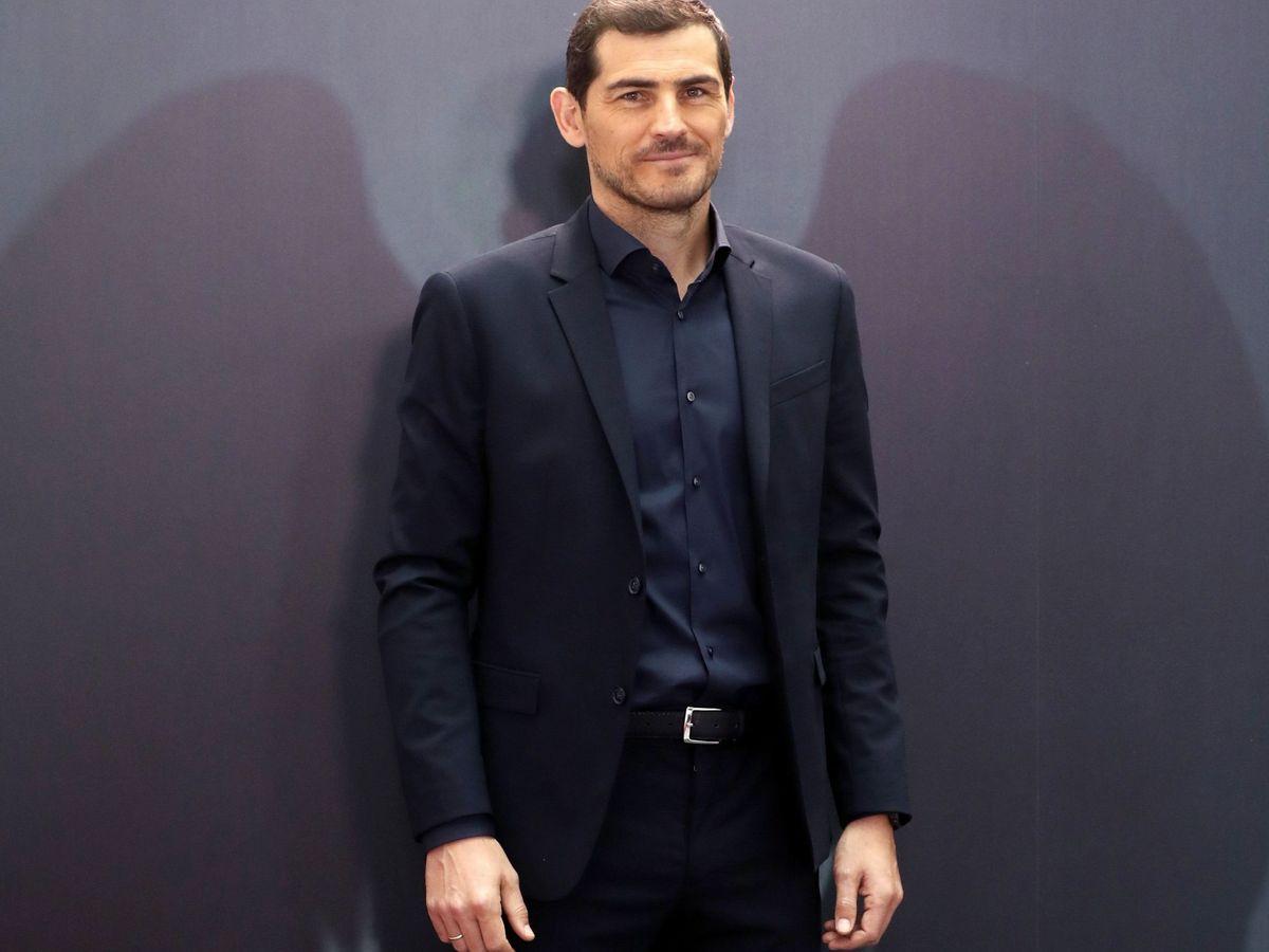 """Foto: Iker Casillas en la presentación de la serie documental """"Colgar las alas"""". (EFE)"""