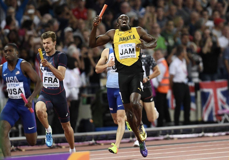 Foto: Bolt, en el momento de lesionares. (Reuters)