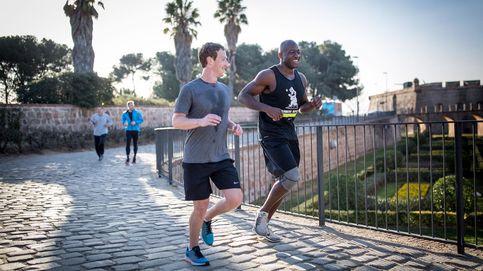 Mark Zuckerberg, el líder de Facebook, hace 'footing' por las calles de Barcelona