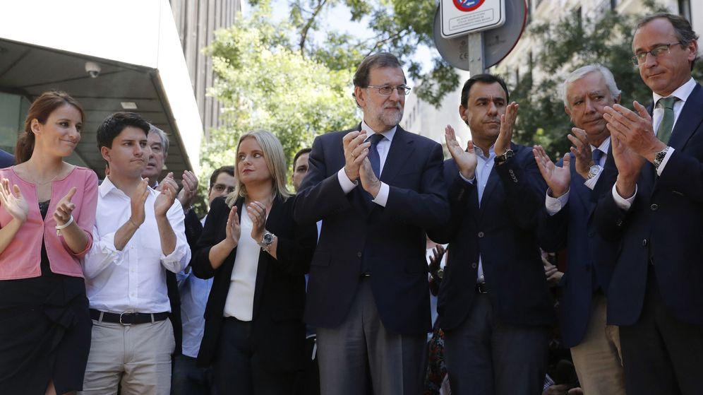 Foto: El presidente del Gobierno y del PP, Mariano Rajoy en el acto celebrado ayer. (EFE)