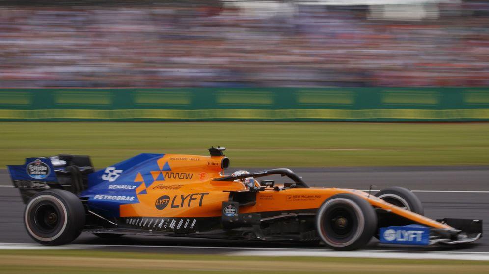 Foto: Carlos Sainz durante el GP de Gran Bretaña. (EFE)