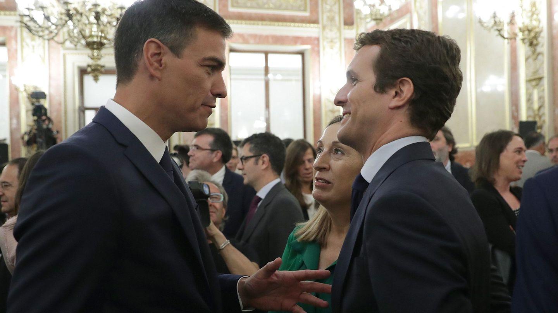 Pedro Sánchez y Pablo Casado en una imagen de archivo. (EFE)