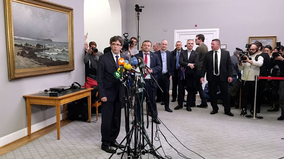 Foto: Rueda de prensa de Puigdemont en Copenhague. (Reuters)