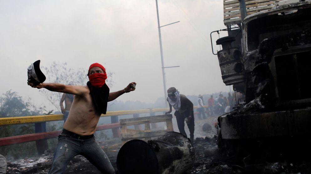 Plomo, gas, fuego y represión para impedir la entrada de la ayuda a Venezuela