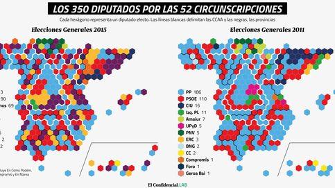 La resaca electoral del 20-D explicada en diez mapas y dos gráficos