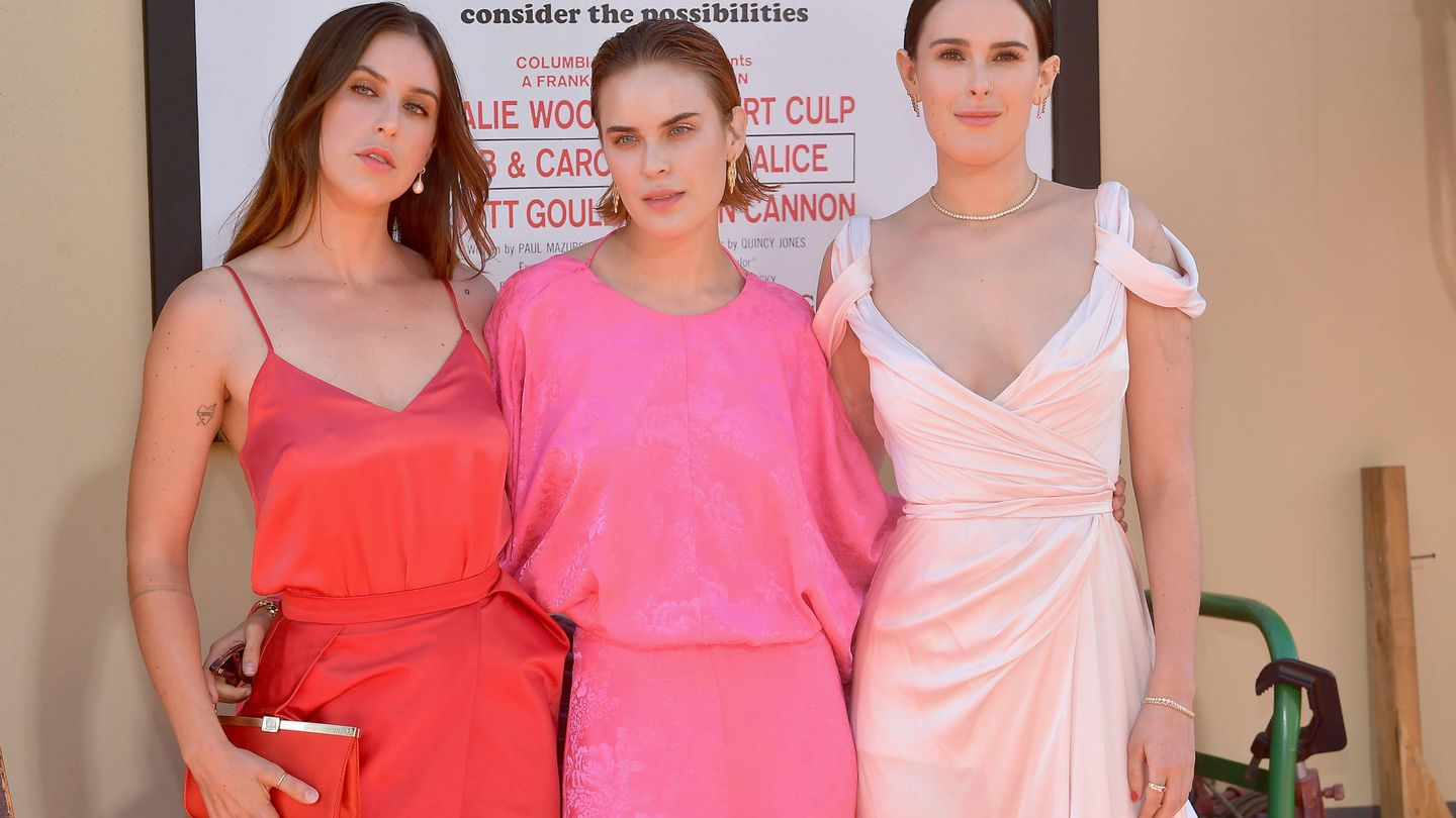 Scout Willis, Tallulah Willis y Rumer Willis en la première de 'Once Upon a Time in Hollywood'. (Getty)