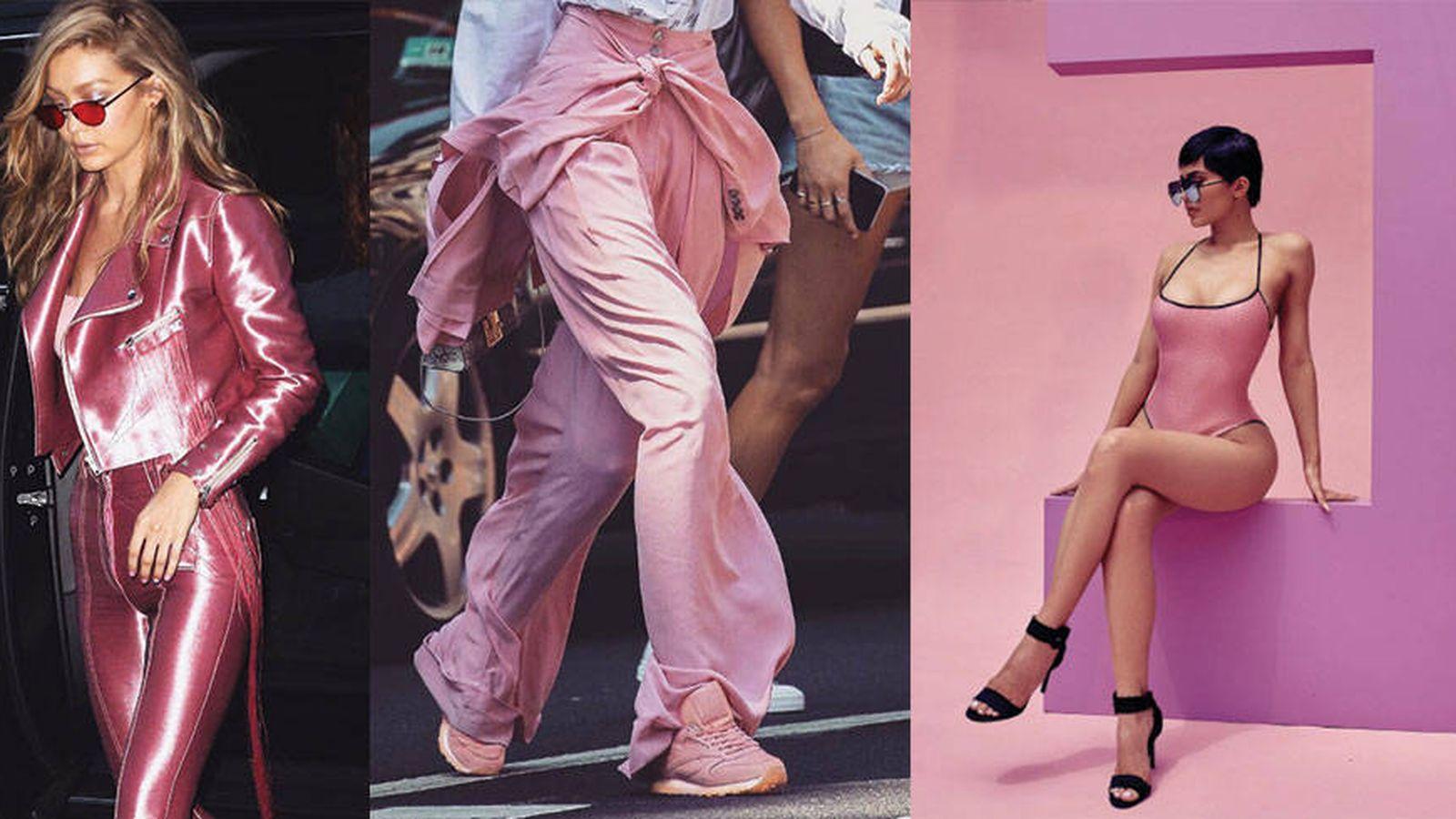 Foto: El rosa es el color favorito de Gigi Hadid.