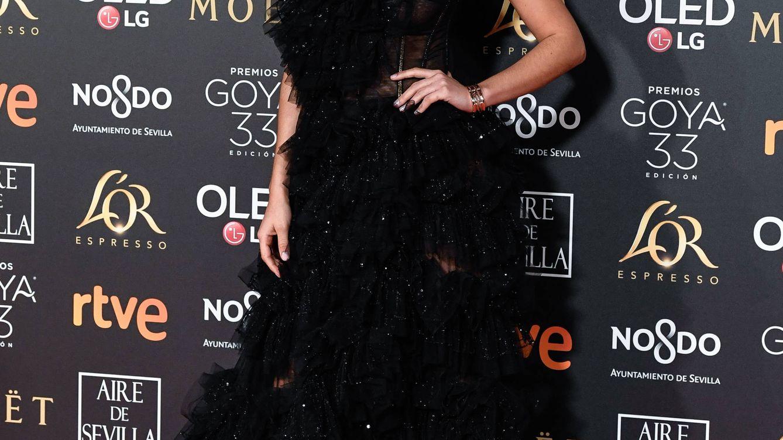 Foto: El maquillaje de María Pedraza en los Premios Goya 2019. (Getty)