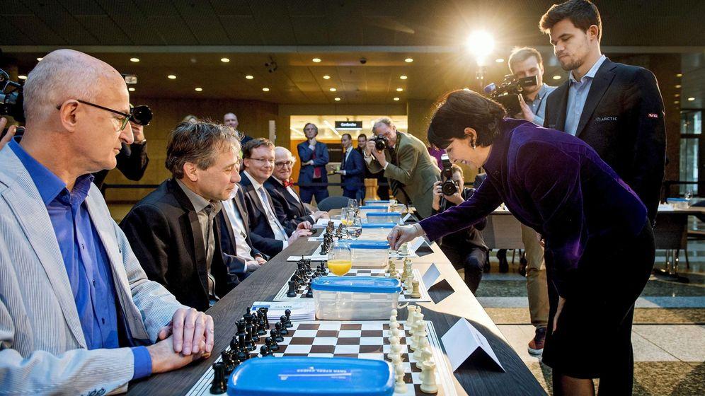 Foto: Exhibición de ajedrez en Holanda (EFE)