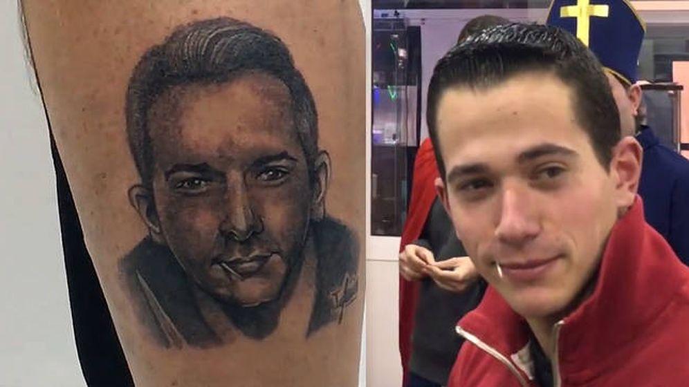 Foto: Sergio Álvarez y el tatuaje que han hecho de su cara... y de su palillo (Foto: Facebook)