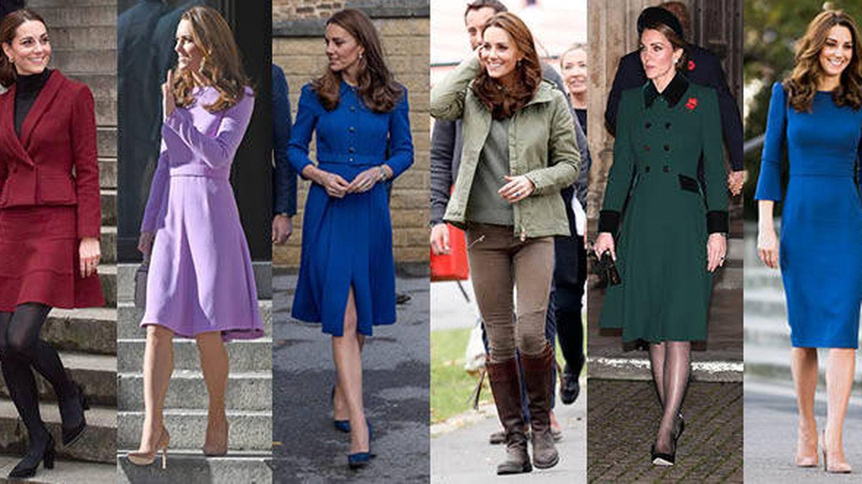 Los looks reciclados de Kate. (Getty)