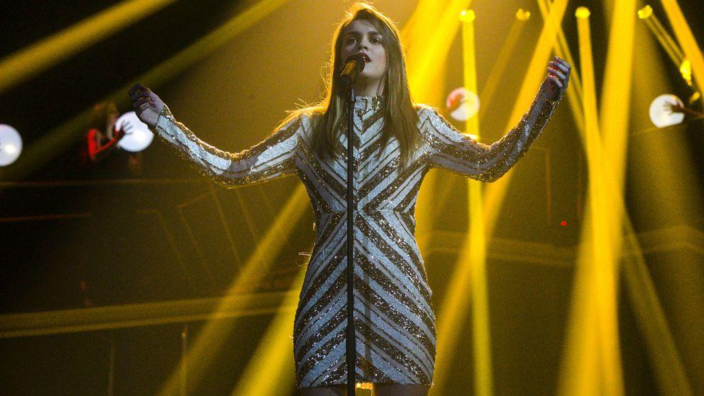La caída de Amaia en el concierto de 'Operación Triunfo' en Málaga