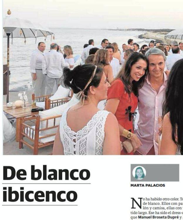 Foto: La boda de Broseta, según 'Las Provincias'.