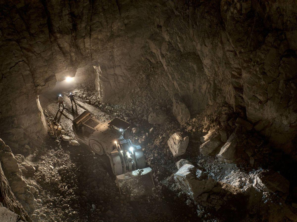 Foto: Interior de la mina Aguas Teñidas. (Matsa)