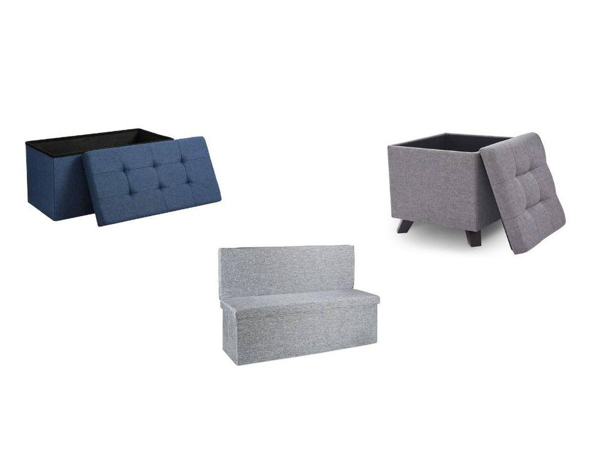 Foto: Otomanas o taburetes versátiles para almacenar cosas y sentarse al mismo tiempo