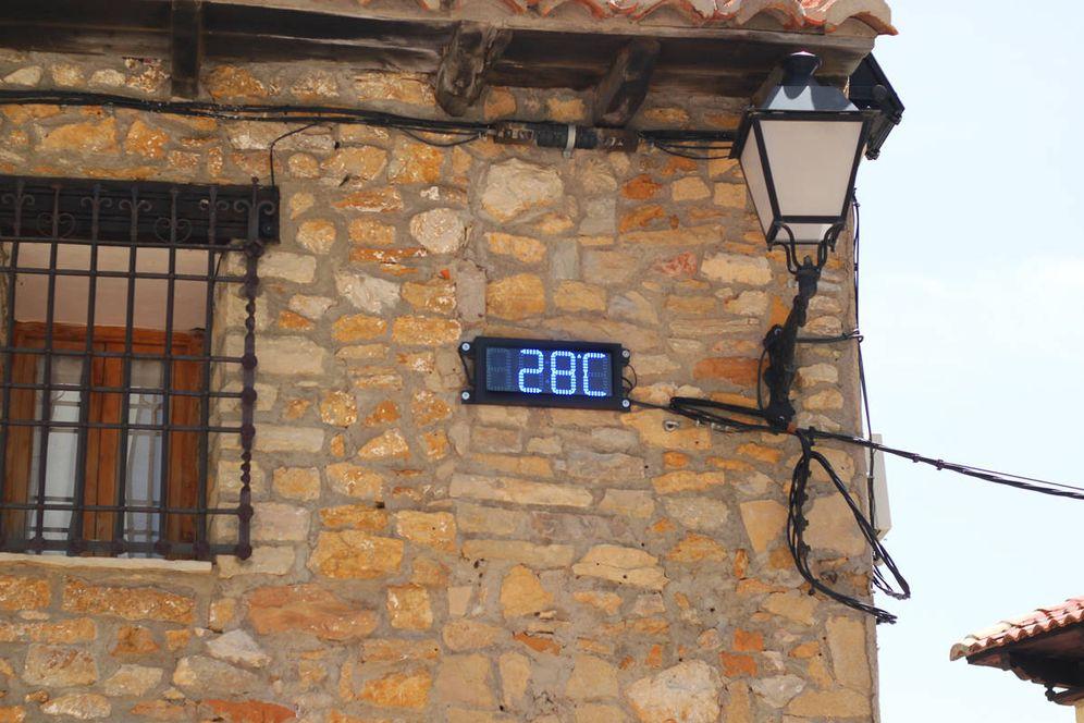 Foto: Temperatura en Valdelinares a las 15:00. (Foto: Guillermo Cid)