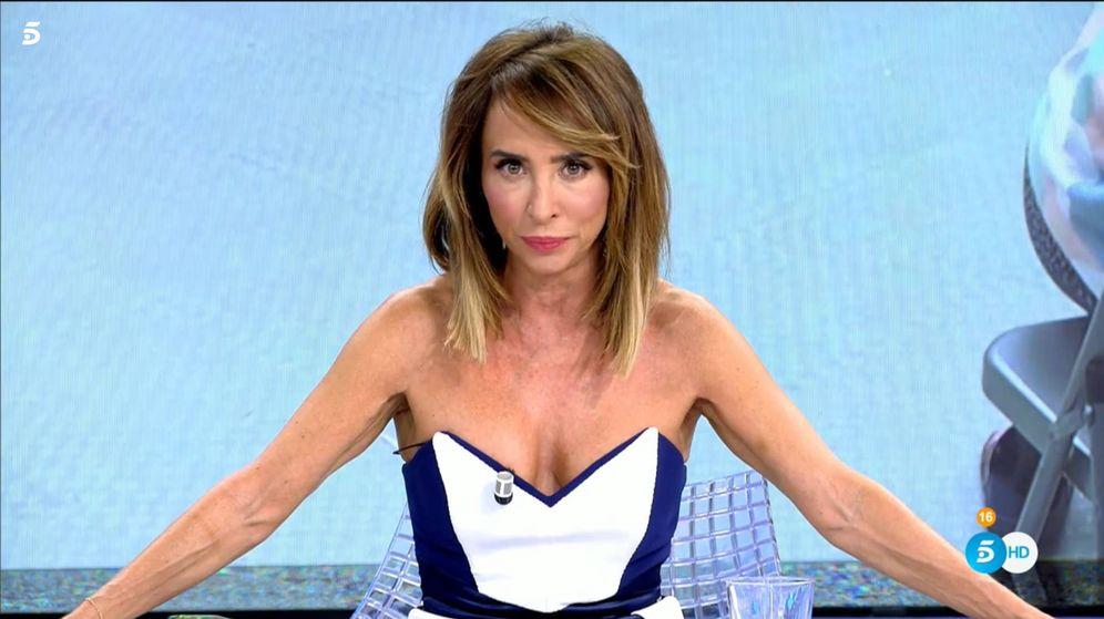 Foto: María Patiño, en 'Sábado Deluxe'. (Telecinco)