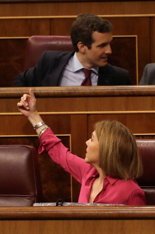 Foto: Pablo Casado y María Dolores de Cospedal. (EFE)
