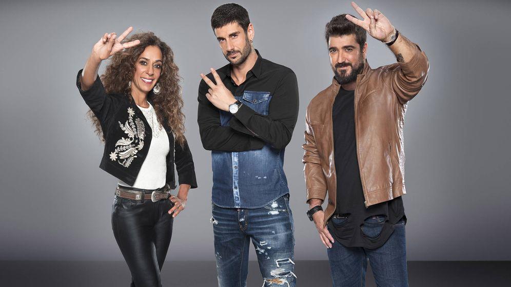 Foto: Rosario Flores, Melendi y Antonio Orozco, coaches de 'La Voz Kids'. (Mediaset)