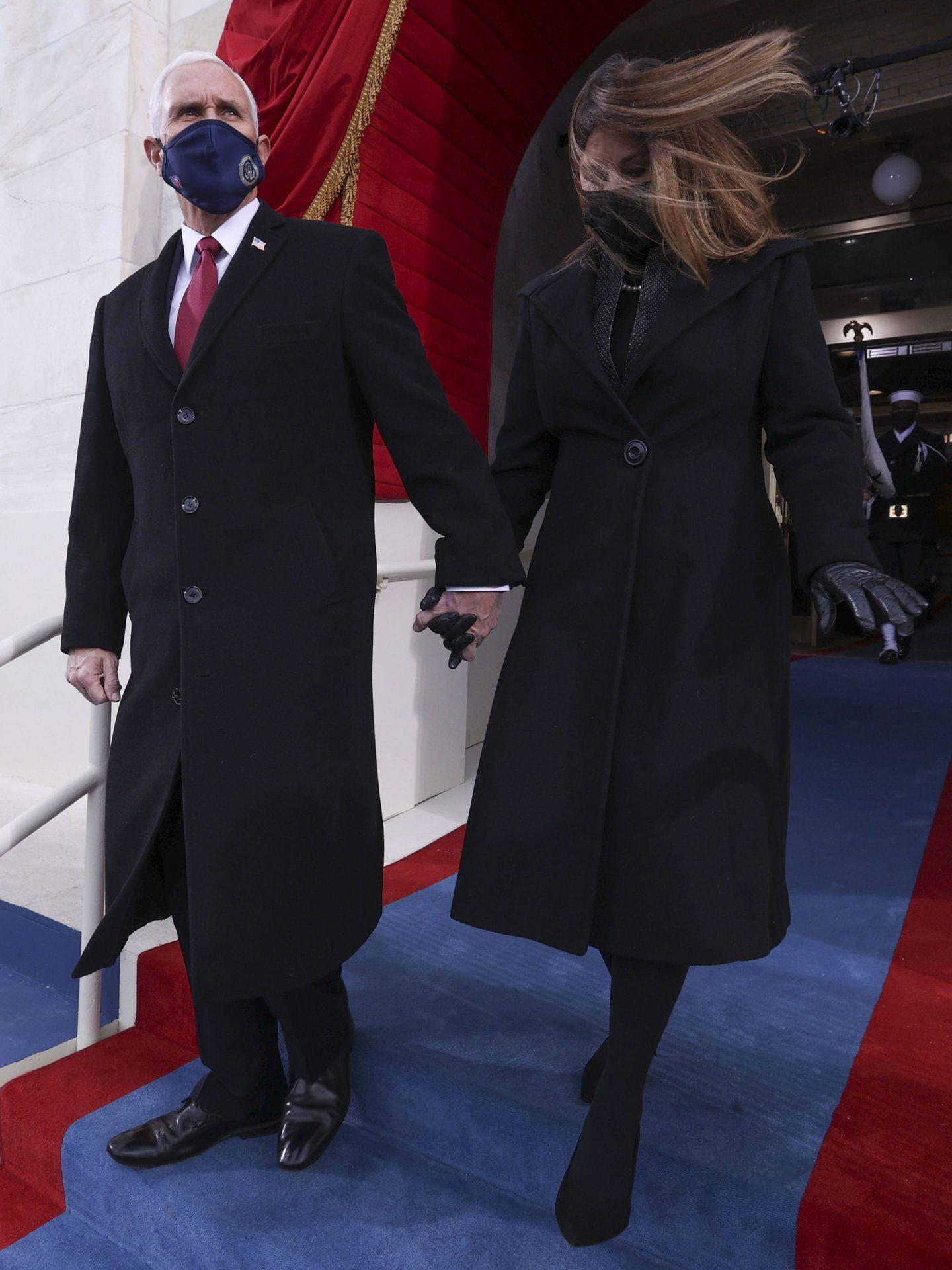 Karen y Mike Pence. (EFE)